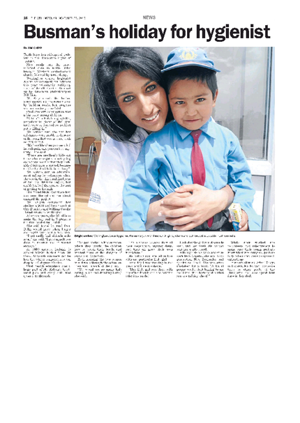 Our Hygienist in The Wellingtonian - 28 Nov 2013 - Page #16. City Dentists in the Press