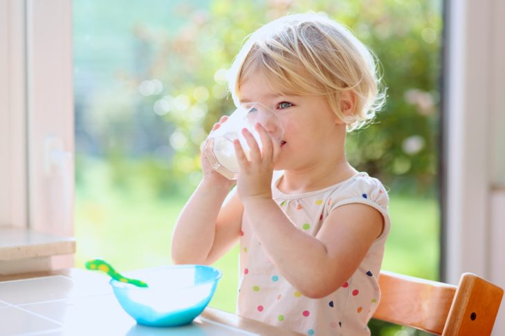 Milk is a better option than juice for toddlers.