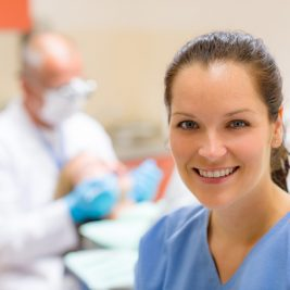A dental hygienist may assist a dentist, but also offer separate appointments.