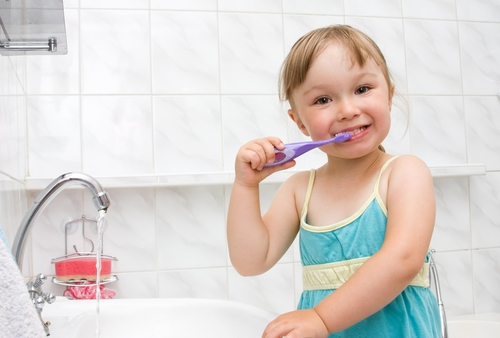It's important to teach your children healthy brushing habits even if they just have baby teeth.